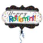 """Officially Retired SuperShape Foil Balloons 27""""/68cm x 16""""/40cm P35 - 5 PC"""