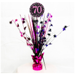 Pink Sparkling Celebration 70th Spray Centrepieces 45cm - 6 PC