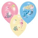 "Be A Mermaid Latex Balloons 11""/27.5cm - 10 PKG/6"