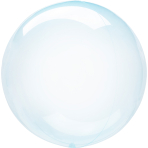 "Crystal Clearz Blue Packaged Balloons 18""/46cm S40 - 5 PC"