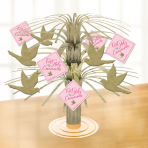 Pink First Holy Communion Centrepieces 30cm - 6 PC