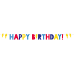 Superhero Happy Birthday Letter Banners 2.5m - 6 PC
