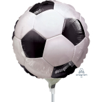 "Championship Soccer Mini Foil Balloons 9""/23cm A15 - 5 PC"