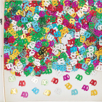 Number 40 Multi Colour Metallic Confetti 14g - 12 PC