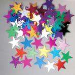 Jumbo Stars Multi Colour Metallic  Confetti 14g - 12 PKG