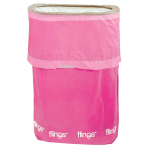 Bright Pink Fling Bins - 5 PKG