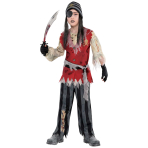 Cutthroat Pirate Corpse Costume - Age 14-16 Years - 1 PC