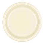 Vanilla Creme Plastic Plates 23cm - 10 PKG/10