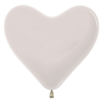 "Crystal Heart Solid Clear 390 Latex Balloons 6""/15cm - 100 PC"