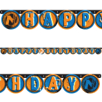NERF Happy Birthday Letter Banners 2.18m x 13.2cm - 6 PC