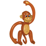 Monkey Inflatable 59cm - 12 PC