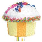 Cupcake Multi Colour Pull Pinatas - 4 PC
