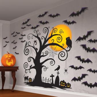 Family Friendly Halloween Scene Setters - 6 PKG/32