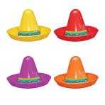 Mini Sombrero Hats Assortment - 6 PKG/8