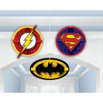 Justice League Honeycomb Decorations - 6 PKG/3