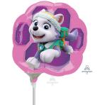 Paw Patrol Pink Skye & Everest Mini Shape Foil Balloons A30 - 5 PC