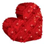Mini Heart Foil Decorations 14.6cm x 14.8cm - 12 PC