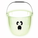 Glow in the Dark Ghost Pail  - 17.7cm x 21.5cm - 24 PC