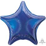 Blue Dazzler Star Standard Unpackaged Foil Balloons S40 - 10 PC