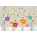 Hawaiian Swirls Decorations Value Pack - 12 PKG/12