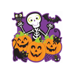 Skeleton Pumpkin Patch Cut-outs 38cm - 12 PC