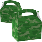 Favours Party Boxes Camouflage - 75 PC