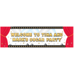 Hollywood Giant Sign Personalised Banners 1.65m x 50.8cm - 12 PKG/12