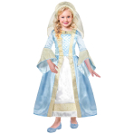 Pretty as a Princess Tudor Girl Costume - Age 3-5 Years - 1 PC