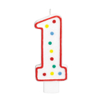 Giant Size Numeral Candles 13.3cm #1 - 12 PC