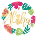 Aloha Paper Plates 25cm - 12 PKG/8