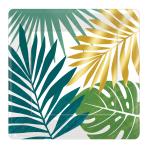 Key West Square Metallic Paper Plates 18cm - 12 PKG/8