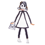 Stick Girl Costume - Age 10-12 Years - 1 PC