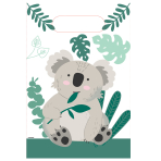 Koala Paper Loot Bags - 6 PKG/8