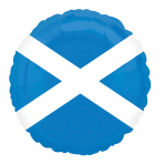 "Scotland Flag  Foil Balloon   - 18""/45cm - 5 PC"