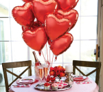 Partyware & Balloons to fill the room with love!