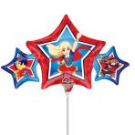 DC Super Hero Girls Mini Shape Foil Balloons A30 - 5 PC