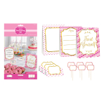 Pink Buffet Decorating Kits - 6 PC