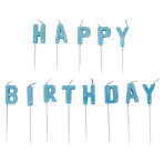 Blue Happy Birthday Pick Glitter Candles - 6 PKG/13