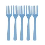 Caribbean Blue Plastic Forks - 12 PKG/10