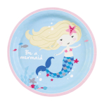 Be a Mermaid Paper Plates 23cm - 10 PKG/8
