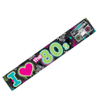 Totally 80s Foil Banners 7.6m - 12 PC