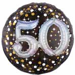 "Gold Sparkling Celebration Sparkling 50th Foil Multi-Balloons 36""/91cm w x 36""/91cm P75 - 5 PC"