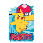 Pokémon Postcard Invitations - 6 PKG/8
