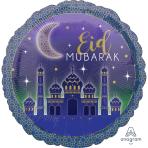 Eid Mubarak Standard Foil Balloons S40 - 5 PC