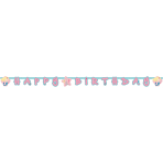 Be a Mermaid Letter Banners 1.8m x 15cm - 10 PC