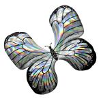 "Iridescent Butterfly SuperShape Foil Balloons 30""/76cm x 26""/66cm P40 - 5 PC"