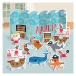 Ahoy Birthday Table Decorating Kits - 9 PKG/11