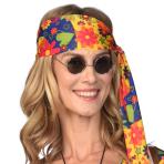 Black Hippie Sunglasses - 1 PC