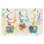 Bubble Guppies Swirls Decorations Pack - 6 PKG/12