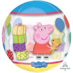 "Peppa Pig Clear Orbz Foil Balloons 15""/38cm w x 16""/40cm h G40 - 5PC"